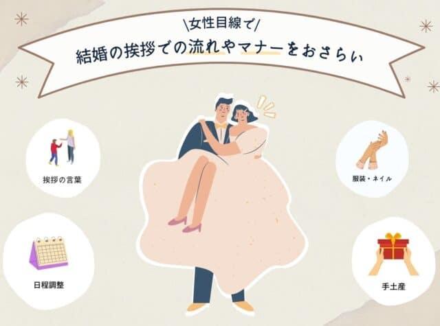 【女性側】結婚の挨拶での流れやマナーを知っておこう